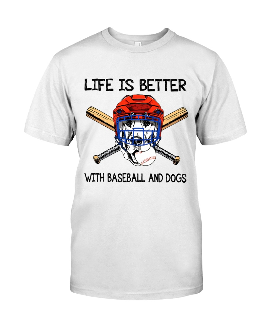Baseball And Dogs Classic T-Shirt
