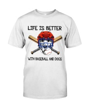 Baseball And Dogs Classic T-Shirt front
