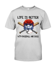 Baseball And Dogs Premium Fit Mens Tee thumbnail