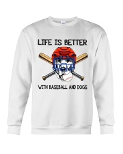 Baseball And Dogs Crewneck Sweatshirt thumbnail