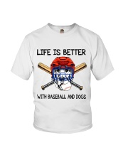 Baseball And Dogs Youth T-Shirt thumbnail