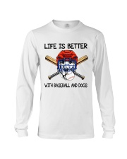 Baseball And Dogs Long Sleeve Tee thumbnail