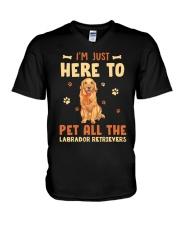 Labrador Retrievers V-Neck T-Shirt thumbnail