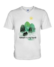 Nature Is My Home V-Neck T-Shirt thumbnail
