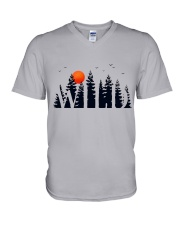 I Love Camping V-Neck T-Shirt thumbnail