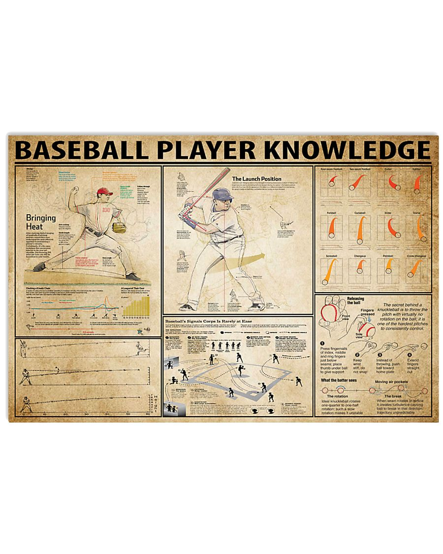 Baseball Player Knowledge 17x11 Poster