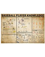 Baseball Player Knowledge 17x11 Poster front