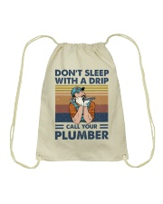 Call Your Plumber Drawstring Bag thumbnail