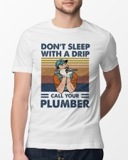 Call Your Plumber Classic T-Shirt lifestyle-mens-crewneck-front-13