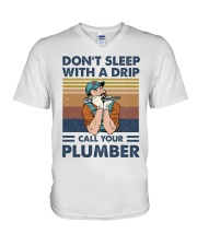 Call Your Plumber V-Neck T-Shirt thumbnail