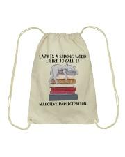 Lazy Is A Strong Word Drawstring Bag thumbnail