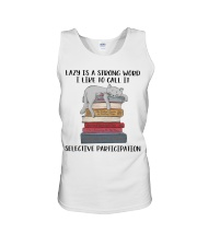 Lazy Is A Strong Word Unisex Tank thumbnail
