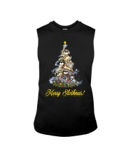 Merry Chistmas Sloth Sleeveless Tee thumbnail