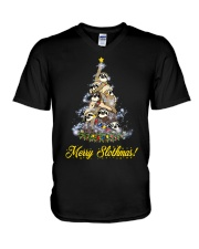 Merry Chistmas Sloth V-Neck T-Shirt thumbnail