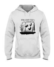 You Can't Fly Hooded Sweatshirt front