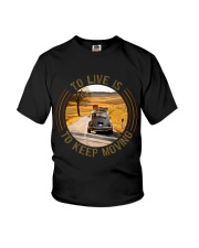 To Live Is To Keep Moving Youth T-Shirt thumbnail