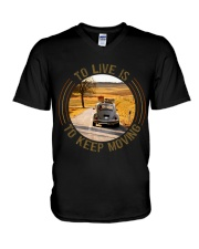 To Live Is To Keep Moving V-Neck T-Shirt thumbnail