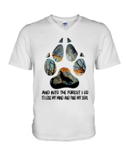 And Into The Forest V-Neck T-Shirt thumbnail