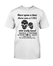 Girl Love Skulls And Tattoos Premium Fit Mens Tee tile