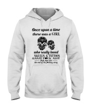 Girl Love Skulls And Tattoos Hooded Sweatshirt tile