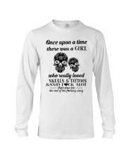 Girl Love Skulls And Tattoos Long Sleeve Tee thumbnail