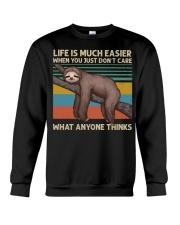 Life Is Much Easier Crewneck Sweatshirt thumbnail