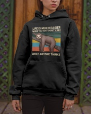 Life Is Much Easier Hooded Sweatshirt apparel-hooded-sweatshirt-lifestyle-front-03