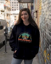 Sloth Hiking Team Hooded Sweatshirt lifestyle-unisex-hoodie-front-1