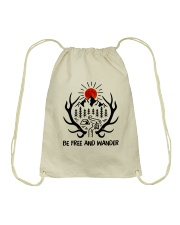 Be Freedom And Wander Drawstring Bag thumbnail