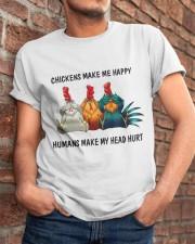 Chickens Make Me Happy Classic T-Shirt apparel-classic-tshirt-lifestyle-26