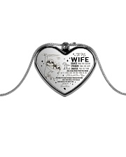 To My Wife Metallic Heart Necklace front