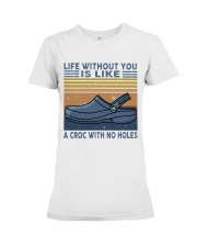 A Croc With No Holes Premium Fit Ladies Tee thumbnail