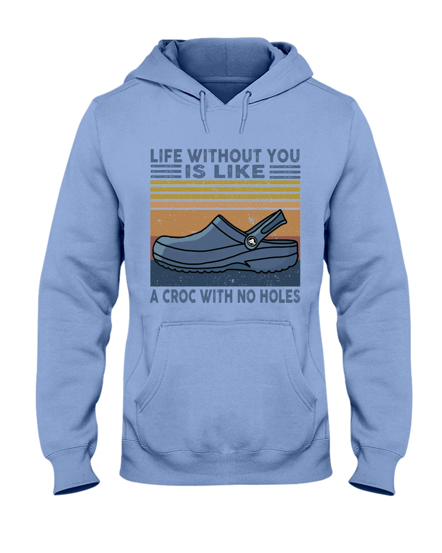 A Croc With No Holes Hooded Sweatshirt
