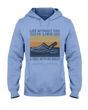 A Croc With No Holes Hooded Sweatshirt front