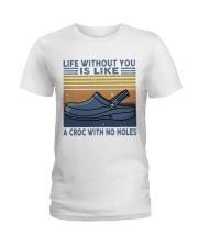 A Croc With No Holes Ladies T-Shirt thumbnail