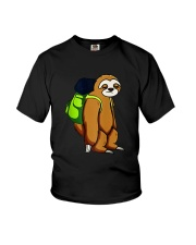 Sloth Hikking Team Youth T-Shirt tile