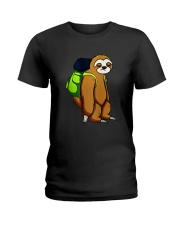 Sloth Hikking Team Ladies T-Shirt thumbnail
