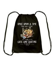 Cats And Quilting Drawstring Bag thumbnail
