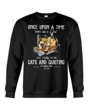 Cats And Quilting Crewneck Sweatshirt thumbnail