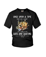 Cats And Quilting Youth T-Shirt thumbnail