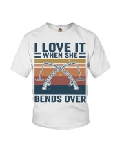 I Love When She Bends Over Youth T-Shirt thumbnail