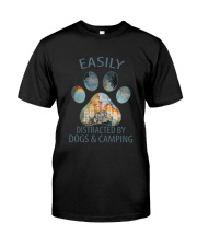 Easily Distracted By Dogs Classic T-Shirt front