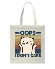 Oops I Don't Care Tote Bag thumbnail