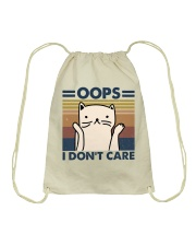 Oops I Don't Care Drawstring Bag thumbnail
