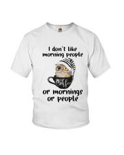 I Don't Like Morning People Youth T-Shirt thumbnail
