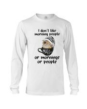 I Don't Like Morning People Long Sleeve Tee thumbnail