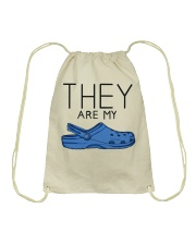 They Are My Crocs Drawstring Bag tile