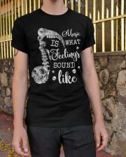 Music Is What Feeling Classic T-Shirt apparel-classic-tshirt-lifestyle-21