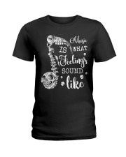 Music Is What Feeling Ladies T-Shirt thumbnail