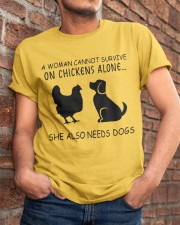 She Also Needs Dogs Classic T-Shirt apparel-classic-tshirt-lifestyle-26